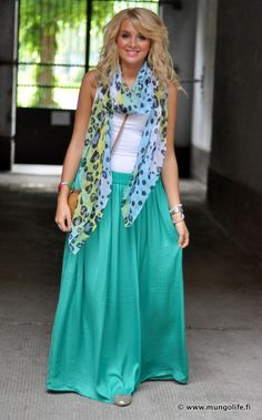 maxi skirt outfit adorbs..
