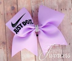 Nike Cheer Bow  Light Purple cheer bow by OnceUponATwincess
