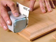 guide to sanding furniture for finishing - Make your own contoured sanding block.