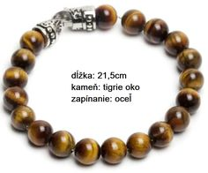 TIGEROS - pánsky náramok - kameň: tigrie oko + zapínanie: oceľ, dĺžka: 21,5cm Krabi, 21st, Beaded Bracelets, Jewelry, Luxury, Jewlery, Jewerly, Pearl Bracelets, Schmuck
