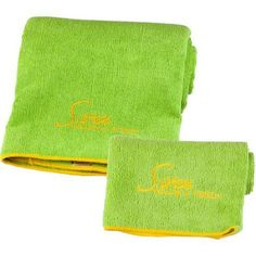 Sivan Health and Fitness Yoga Towel, Small/Large, Set of 2, Green