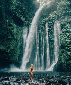 Waterfall exploring in Lombok by gypsea_lust