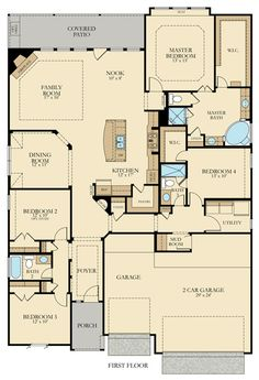 2455 sq ft Savoy 5124 New Home Plan in VB Indian Springs 65 by Lennar