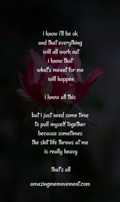 You can't be happy all the time and if anyone says they are, they're lying. It's ok to have down days too. Don't feel bad to be sad. It Will Be Ok Quotes, Love Life Quotes, Self Love Quotes, True Quotes, Great Quotes, Quotes To Live By, Inspirational Quotes, Motivational Quotes For Love, Motivating Quotes