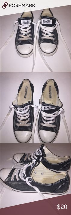 Converse All Star Low Sneakers Black Converse Chuck Taylor All Star Low Sneakers, women's size 7, worn multiple times, broken in, still in decent condition! Converse Shoes Sneakers