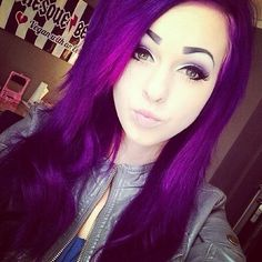 purple hair- ******GREAT AMAZING SHADE AND VIVID, BRIGHT DARK VIOLET PURPLE. DEFINITLEY A TOP PICK FOR MY NEW HAIR COLOR LINE UP!!!!!********