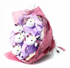"букет из игрушек | Букет из игрушек ""Hello Kitty violet"""