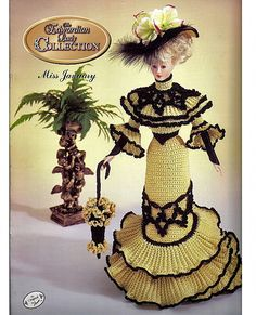 Miss January The Edwardian Lady Collection  Fashion Doll  Crochet Pattern  Annies Attic 7901C.