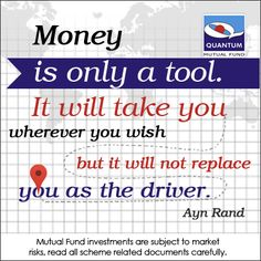 You are the driver! #AynRand #Money‬