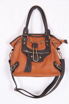 vintage brown bag with a long strap. shoulder bag / by DAMODApl