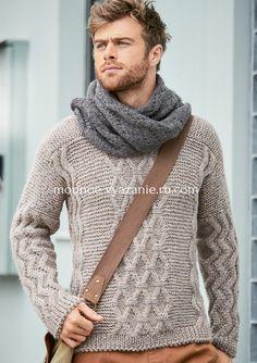 Подборка вязаных пуловеров спицами для мужчинПредставляем вам подборку стильных пуловеров и джемперов для мужчин связанных спицами.Это самые новые модели мужской вязаной моды из последних номеров журналов по вязанию.Стильные и удобные фасоны,удачное сочетание повседневного стиля с классической элегантностью,мягкая и приятная на ощупь пряжа, все что нужно для наших любимых мужчин.