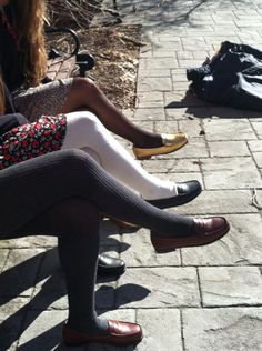 #Tights and #Weejuns kind of day!  In fact, I have a pair of Bass Weejuns that I rarely wear. I think I should break them out.