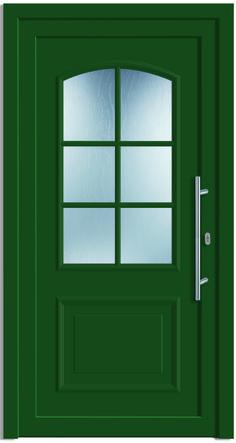 Sternstunden Eingangstüre NEPTUN 2 - Aluminiumtüre außen in grün RAL 6005…
