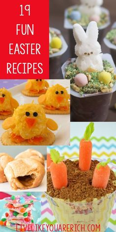 19 Fun Easter Recipes that are great for families with kids! Delicious Easter Recipes | Easter Dessert | Easter Candy | Easter sweets