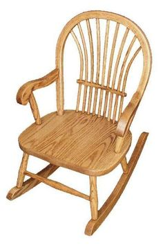 Amish Hardwood Child's Sheaf Back Rocker Charming child's rocker perfect for playroom or nursery. A special little chair to make your little one feel special. #child'srocker #kidsfurniture