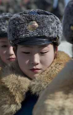 North Korean Traffic Police Officer - beauty is everywhere.