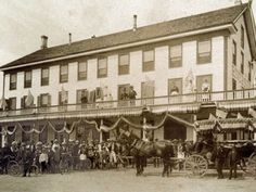 The Riverside Hotel on the Fourth of July in the 1890s.