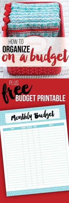 Laura from I Heart Planners has a great post on how to organize on a budget, plus she's offering a free budget printable right now.