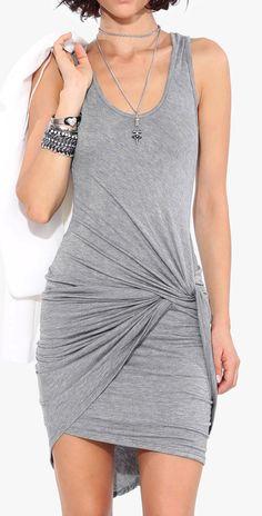 Twist bodycon dress