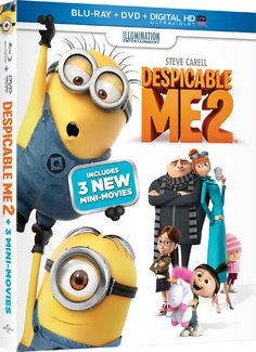 """Win a free Blu-ray and DVD combo pack to """"Despicable Me 2"""" starring Steve Carell and Kristen Wiig courtesy of HollywoodChicago.com! Win here: http://www.hollywoodchicago.com/links/goto/23091/8226/links_weblink"""
