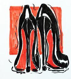 WEBSTA @ val_rusak - Another sketchy sketch for #inktober. This time 👠👠, because why not?))***#inktober2016 #shoes #blackshoes #highheels #redshoes #fashionillustration #fashionsketch #louboutin #louboutinheels #black #sketch #drawing #markers #copic #redcolor #blackandred #туфли #лабутены #черныетуфли #красный #рисунок #скетч #скетчмаркерами #фэшниллюстрация #маркеры #topcreator