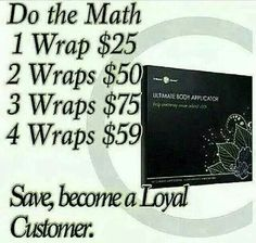 It Works loyal customer program is the best. Redeem perk points loyal customer for life just to name a few. Http://faithwraps1.myitworks.com
