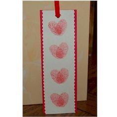 Valentine Thumbprint Bookmark Craft, looks pretty easy!