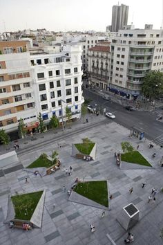 Mangado Architects | Plaza Dalì, Madrid. Click on image for details, and visit the Slow Ottawa 'Streets for Everyone' board for more people-friendly urban design.