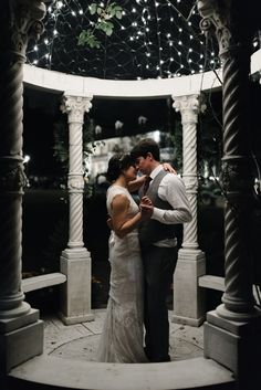 They closed their wedding night with an intimate last dance. Romantic wedding pictures, romantic wedding ideas, wedding reception inspiration, twinkle lights / Scroll through 2017's roundup and see if you don't wind up with a smile by the end.