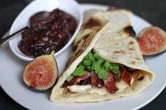 The Cilantropist: Brie and Bacon Piadina, with Balsamic Fig and Onion Marmalade