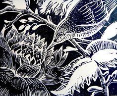 Woodland Bird Linocut Prints.