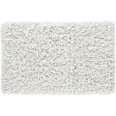 White rug for master bed