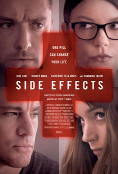 Side Effects , starring Rooney Mara, Channing Tatum, Jude Law, Catherine Zeta-Jones. A young woman's world unravels when a drug prescribed by her psychiatrist has unexpected side effects. #Crime #Drama #Thriller