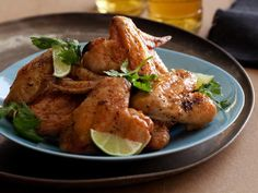 30-Minute Crisp Chicken Wings: After roasting them, Tyler tosses tender chicken wings in a light sauce featuring red curry paste, honey and soy sauce.