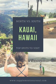 My husband and I just got back from our honeymoon in Kauai, Hawaii. This magical place is everything I imagined it to be and more. In this post, I am sharing some of my favorite spots from the north side and the south side of the island. Kauai Vacation, Honeymoon Vacations, Hawaii Honeymoon, Hawaii Travel, Vacation Spots, Vacation Ideas, Vacation Packing, Honeymoon Ideas, Packing Tips