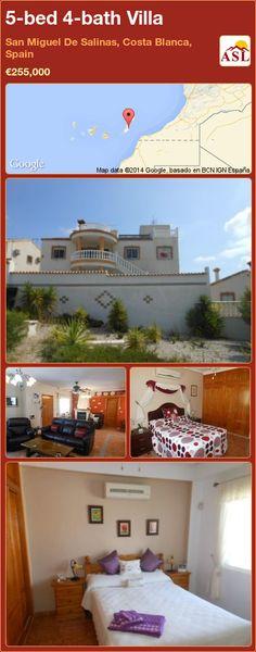 5-bed 4-bath Villa in San Miguel De Salinas, Costa Blanca, Spain ►€255,000 #PropertyForSaleInSpain