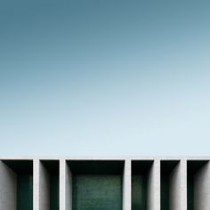 """Maik Lipp from Germany used minimalist approach and composed straight geometric lines of architecture fnto a photo series titled """"Geometric Lines""""."""