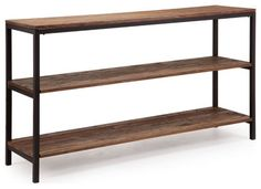 Zuo Modern Dwight 3 Level Shelf in Distressed Natural - modern - Bookcases - Beyond Stores