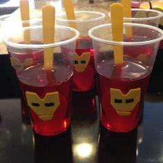 Iron man jello treats.