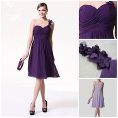 Custom Made Comely Short Bridesmaid Dresses, Purple Bridesmaid Dress,short Bridesmaid Dress,Cheap Bridesmaid Dress,one Shoulder Bridesmaid Dress Dresses Short, Junior Dresses, Dresses Dresses, Bride Dresses, Evening Dresses, Casual Dresses, Fashion Dresses, Women's Fashion, Wedding Dresses