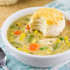 Chicken Pot Pie Stew - A healthier and easier version of a classic dish. PERFECT FOR FALL