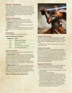41 Best Homebrew Classes images in 2018 | Dnd 5e homebrew, Dnd idea