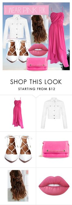 """for love 💖"" by cam122101 ❤ liked on Polyvore featuring Miss Selfridge, Oscar de la Renta, Urban Outfitters, Lime Crime and IWearPinkFor"