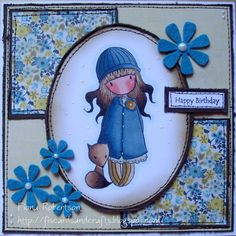 handmade card using Gorjuss Foxy from Sugar Nellie @ www.funkykits.co.uk http://fiscardsandcrafts.blogspot.co.uk