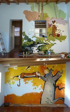 La mejor idea!!! Para una habitación de jugar... -- by S. Rivas, who  painted…