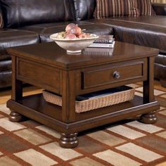 Brown Lift Top Cocktail Table - Signature Design by Ashley Furniture