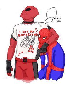 Hehehe :3 spidermanxdeadpool