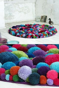 39 DIY Pom-Pom Crafts which Easy to Make and Ready to Sell – Diy … - Diy und Selbermachen Diy Crafts For Adults, Craft Activities For Kids, Kids Crafts, Pom Pom Crafts, Yarn Crafts, Diy Pom Pom Rug, Sell Diy, Diy Crafts To Sell, Make To Sell