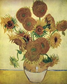 1888 By Vincent Van Gogh Hand Painted Oil Painting Reproduction Replica Wall Art Canvas Painting Repro 4th Version Sunflowers