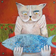 Cat 2, Painting, Art, Art Background, Painting Art, Kunst, Paintings, Gcse Art